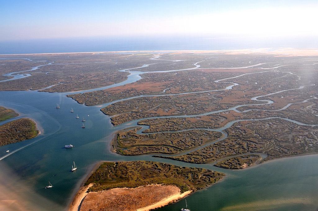 Luftaufnahme Ria Formosa, Algarve (mit freundlicher Genehmigung von: http://quarknet.de)