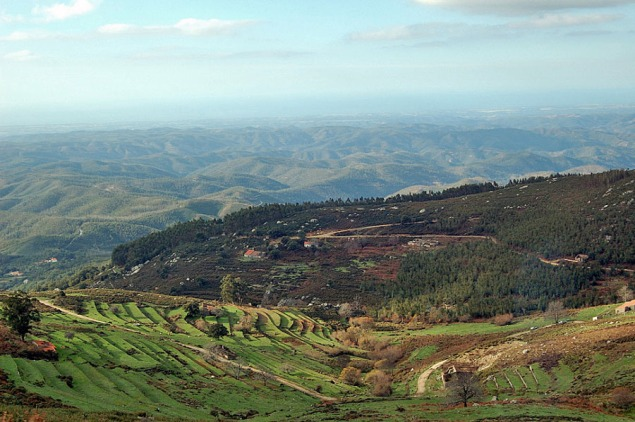 Blick von der Serra Monchique auf die Küste - copyright commons