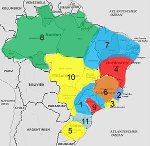 Linguistic Map Brazil