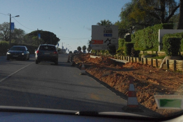 Baustellen entlang der EN 125
