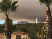 Alvor apokalyptisch: Blick auf den verfinsterten Waldbrand-Himmel der Algarve am 7. September 2016