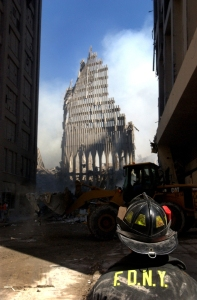 Überreste des World Trade Centers nach den Terroranschlägen   Foto Creativr Commons
