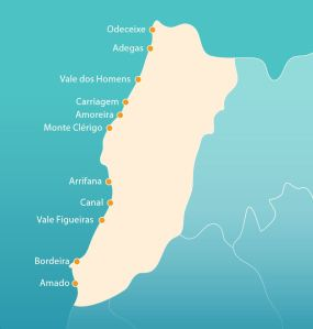 algarve-karte-westkuste