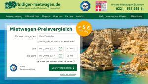 Billiger Mietwagen Website