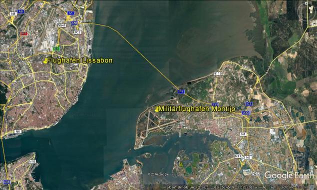 Flughafen Montijo Google Earth