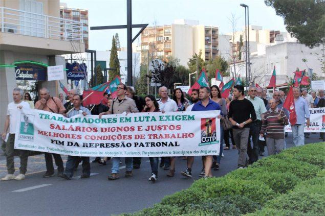 Protestkundgebung Algarve Hotellerie