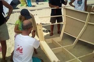 Bau einer Karavelle auf der Festung Sagres